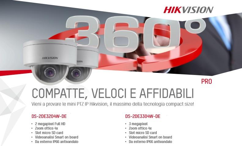 Mini PTZ IP di Hikvision